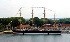 Viermastbark Passat in Travemünde; Foto: Wikipedia