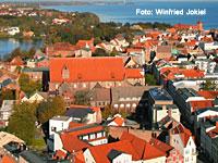 Meeresmuseum in Stralsund vom Turm der Marienkirche