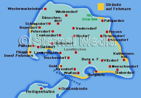 Fehmarn Karte Insel.Die Strande Auf Fehmarn Ausflugsziele Und Sehenswertes An