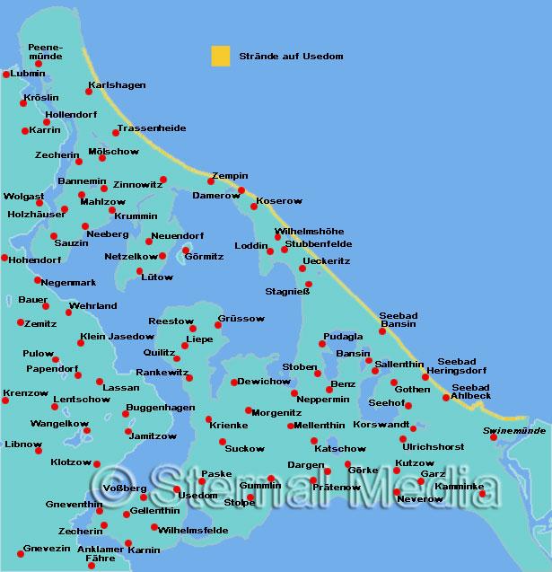 Insel Usedom Karte Ostsee.Die Strände Auf Usedom Ausflugsziele Und Sehenswertes An Der Ostsee